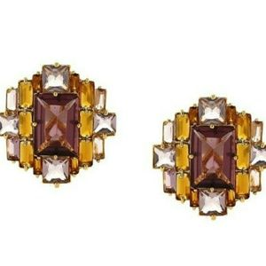 Louise et Cie Multi Color Baguette Drama Earrings